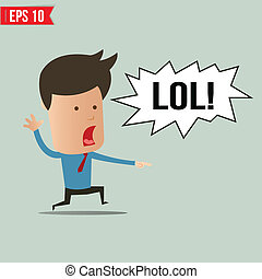 Businessman laughing out loud  - Vector illustration - EPS10