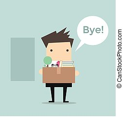 Businessman Leaving Job vector