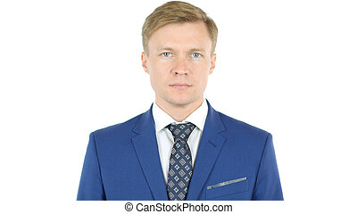 Businessman looking at camera with reliability