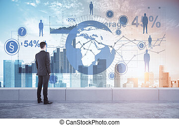 Global business and research concept