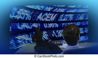 Businessman looking at the stockdata