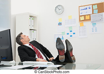 Businessman Looking At Time