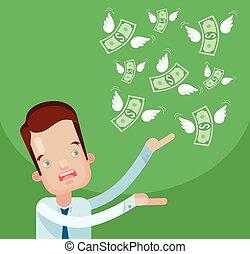 Businessman loss money