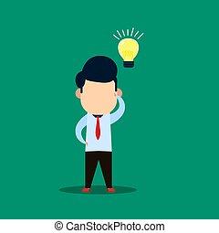businessman make gestures thinking ideas, vector illustrations