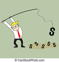 Businessman Making money