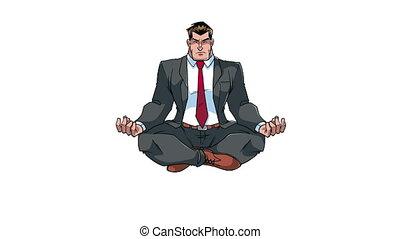 Businessman Meditating Animation