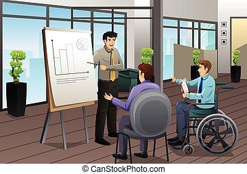 Businessman Meeting in Office