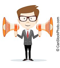 Businessman messenger negotiator - Businessman, messenger,...