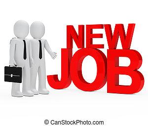 businessman new job - businessman with briefcase next new...