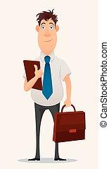 Businessman, office worker.