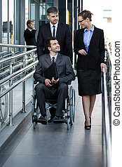 Businessman on a wheelchair