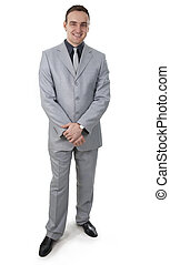 Businessman on a white background.