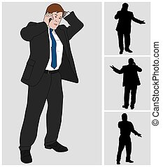 Businessman on Cell 2 - Business man is talking on his cell...