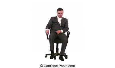 businessman on chair