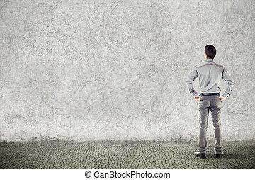 businessman on grunge background