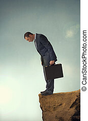 businessman on the brink