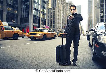 Businessman on trip
