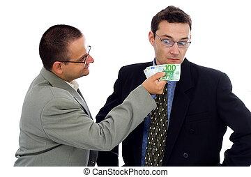 Businessman or politician bribe - Businessman or politician...