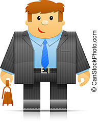 businessman origami toy