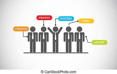 businessman over gray background. vector illustration