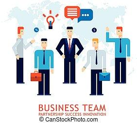 Businessman partnership Teamwork Collaboration Successful business team concept Flat design