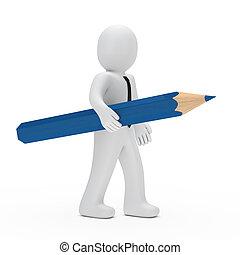 businessman pencil