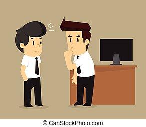 businessman persuade friends gossip others. vector