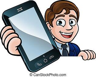 Businessman Phone Concept