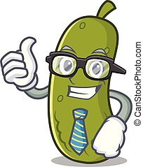 Businessman pickle character cartoon style
