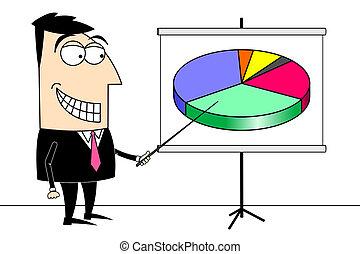 Businessman pie chart