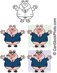 Businessman Pig 2 Collection Set