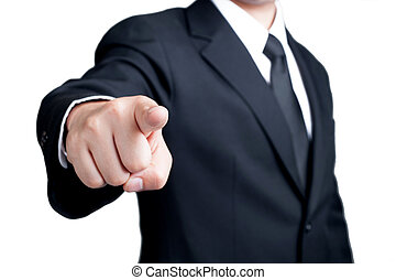 Businessman Pointing I want you isolated - Businessman...