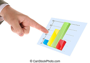 businessman pointing the chart