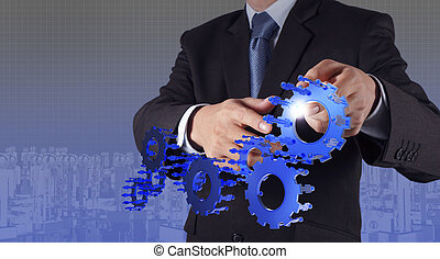 businessman  pointing to investment concept