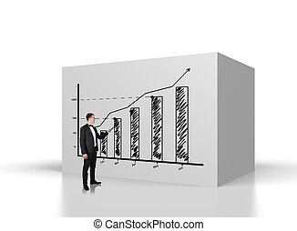 graph on wall