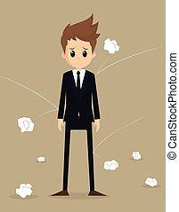 businessman poor working. vector