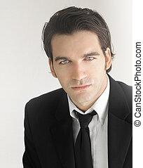 Businessman - Portrait of handsome stylish man in elegant...