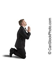 Businessman praying