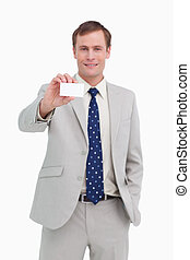 Businessman presenting his business card