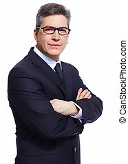 Businessman. Professional accountant and bookkeeper portrait...