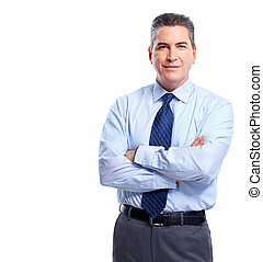 Businessman. - Professional handsome businessman. Isolated...