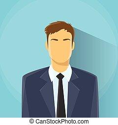 Businessman Profile Icon Male Portrait Business Man Flat Design