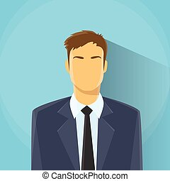 Businessman Profile Icon Male Portrait Business Man Flat...