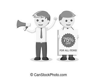 businessman promotion black and white style