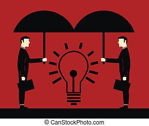 Businessman Protect Idea