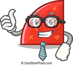 Businessman quadrant character cartoon style vector...