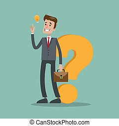 Businessman question idea.