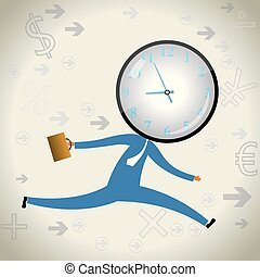 Businessman racing against time