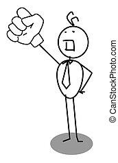 businessman raised hand