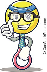 Businessman rattle toy character cartoon